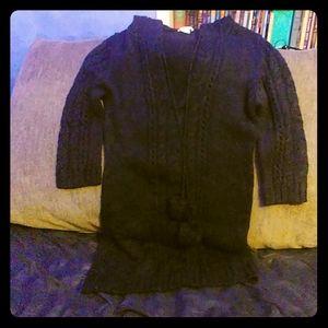 Women's Long Arizona Black Pullover Sweater